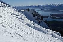 Cerro Lopez et massif Andin, Bariloche, Patagonie, ref ea054784GE