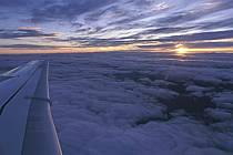 Coucher de soleil vue de l'avion, ref ea1124-14LE