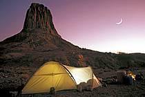 Bivouac in desert, Massif of Hoggar, Sahara, ref eb0373-37GE
