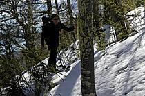 Ski de randonnée au Cerro Lopez, Bariloche, Patagonie, ref eb054875GE