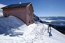 Ski de randonnée au Cerro Lopez, refugio Lopez, Bariloche, Patagonie, ref eb054885GE