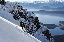 Ski de randonnée au Cerro Lopez, Bariloche, Patagonie, ref eb054907GE
