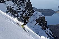 Ski de randonnée au Cerro Lopez, Bariloche, Patagonie, ref eb054908GE