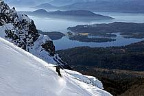 Ski de randonnée au Cerro Lopez, Bariloche, Patagonie, ref eb054909GE