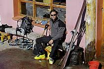 Ski de randonnée au Cerro Lopez, refugio Lopez, Bariloche, Patagonie, ref eb054913GE