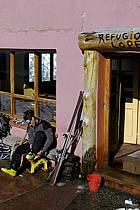 Ski de randonnée au Cerro Lopez, refugio Lopez, Bariloche, Patagonie, ref eb054915GE