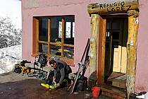 Ski de randonnée au Cerro Lopez, refugio Lopez, Bariloche, Patagonie, ref eb054916GE