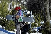 Ski de randonnée au Cerro Lopez, Bariloche, Patagonie, ref eb054955GE