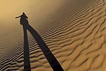 Désert du Sud Tunisien, au sud de Douz, Dunes de sable, ref eb063686GE