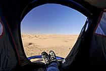 Désert du Sud Tunisien, au sud de Douz, Bivouac dans les dunes de sable, ref eb063714LE