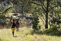 Trek entre Douguiha et Yembérulé, porteurs - Trek from Douguiha to Yemberule, porters, ref eb072641GE