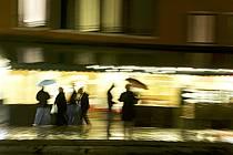 Dans les rues de Venise, sous la pluie - In the streets of Venice, a rainy day, ref eb082490GE