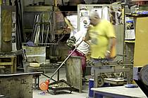 Souffleur de verre, Venise, île de Murano - Glassblowing, Venice, Murano island, ref eb082555GE