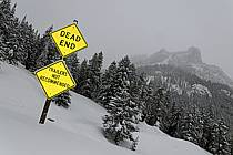Panneau de circulation, Granite Canyon, Jackson Hole, Wyoming - Roadsign, Granite Canyon, Jackson Hole, Wyoming, ref ee080692LE