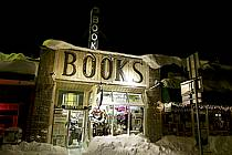 Façade de books store, West Yellowstone, Montana - Books store front, West Yellowstone, Montana, ref ee080922GE