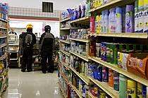 Rayons de supermarché - Supermarket shelves, ref ee080990GE