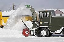 Déneigement (fraiseuse) West Yellowstone, Montana - snow clearance (blower) West Yellowstone, Montana, ref ee081005LE