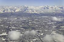 Salt Lake City vue aérienne, Utah - Salt Lake City aerial view, Utah, ref ee081133GE