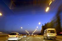 Conduite sur autoroute, de nuit - Night driving on highway, ref ef072203LE