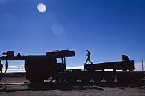 Cimetière de locomotives, Uyuni, Sud Lipez, ref ef1227-30GE