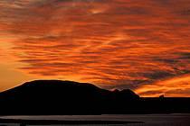 Ciel embrasé au lac Powell, Arizona, ref fa0657-15LE
