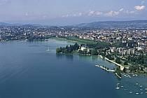 Ville d'Annecy, lac d'Annecy, le port, l'Impérial Palace, Haute-Savoie, ref fc0270-34LE