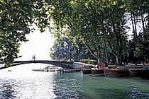 Canal du Vassé, Pont des Amours, Annecy, Haute-Savoie, ref fc0439-26LE