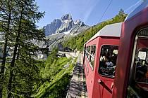 Train du Montenvers, Mer de Glace, Chamonix, Haute-Savoie, ref fc062748LE
