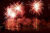 Feu d'artifice, Fête du Lac d'Annecy - Fireworks, Fete du Lac d'Annecy, ref fc081293LE