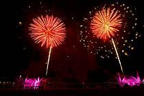 Feu d'artifice, Fête du Lac d'Annecy - Fireworks, Fete du Lac d'Annecy, ref fc081305LE