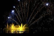 Feu d'artifice, Fête du Lac d'Annecy - Fireworks, Fete du Lac d'Annecy, ref fc081321GE