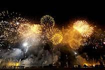 Feu d'artifice, Fête du Lac d'Annecy - Fireworks, Fete du Lac d'Annecy, ref fc081328LE