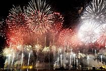 Feu d'artifice, Fête du Lac d'Annecy - Fireworks, Fete du Lac d'Annecy, ref fc081332GE