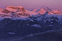La Tournette au dessus d'Annecy, le Mont Blanc, Haute-Savoie, ref fc2108-24LE