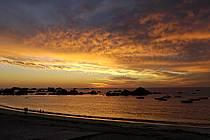 Coucher de soleil, Finistère, Bretagne, ref ha055226LE